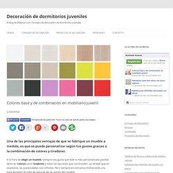 Colores base y de combinación en mobiliario juvenil