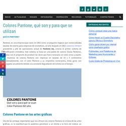 Colores Pantone, qué son y para que se utilizan