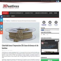 Colorfabb lance l'impression 3D à base de bronze et de bambou