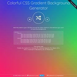 Colorful CSS Gradient Background Generator