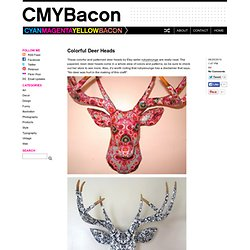 Colorful Deer Heads