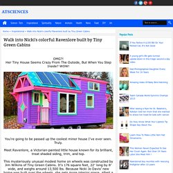 Walk into Nicki's colorful Ravenlore built by Tiny Green Cabins - ATsciences