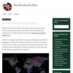 Colorful River Basin Maps