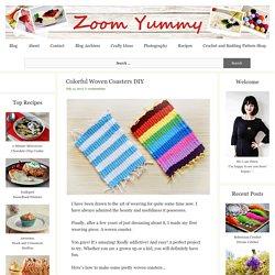 Colorful Woven Coasters DIY « Diy