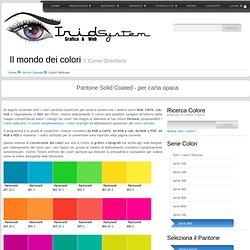 Colori Pantone Coated e uncoated con valori RGB CMBY