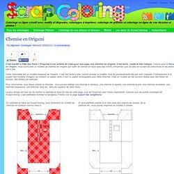 Coloriage Chemise en Origami