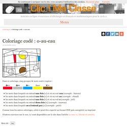 Coloriage codé : o-au-eau