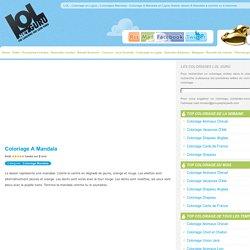 Coloriage A Mandala en Ligne Gratuit, dessin A Mandala à colorier ou à imprimer LOL Guru ® sur LOL.Net