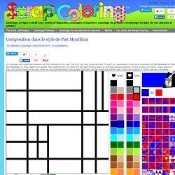 Coloriage Composition dans le style de Piet Mondrian
