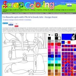 Coloriage Un dimanche après-midi à l'Ile de la Grande Jatte - Georges Seurat