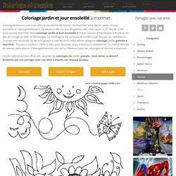 Coloriage Jardin et jour ensoleillé dessin gratuit à imprimer