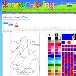 Coloriage La Joconde - Léonard de Vinci