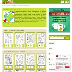 Coloriage Pays du Monde sur Hugolescargot.com