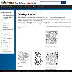 Coloriage Picasso - Coloriages pour enfants