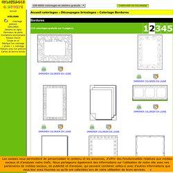 Coloriages Bordures page 2 Découpages bricolages