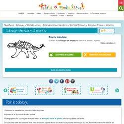 Coloriages dinosaures à imprimer