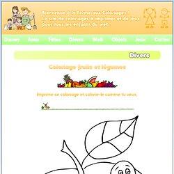 Des coloriages gratuits Fruits et Légumes à imprimer et à colorier pour les enfants