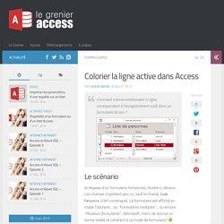 Colorier la ligne active dans Access