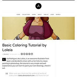 Basic Coloring Tutorial by Loleia | Abduzeedo | Graphic Design Inspiration and Photoshop Tutorials