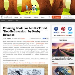 Coloring Book For Adults Titled 'Doodle Invasion' by Kerby Rosanes