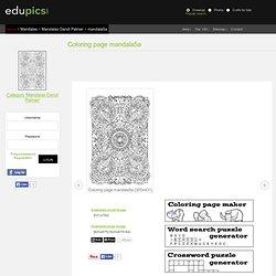 Coloring page mandala5a - img 21901.