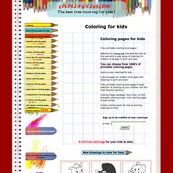 Coloring for kids - Coloring pages for kids - Free, printable coloring book pages - Color pages - Kids coloring pages - Coloring sheet - Kids color pages - Coloring book - Disney and cartoon coloring pages