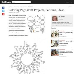 Coloring Craft Projects, Patterns, Ideas