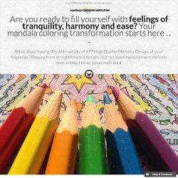 Free mandalas: printable mandala coloring pages and meditative music, your creative path to self healing.
