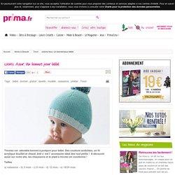 coloris Azur, Un bonnet pour bébé