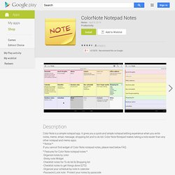 ColorNote Bloc-notes notes