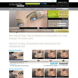 Index | eye shadow, coloronpro, instant makeup | colorOn Professional