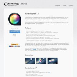 ColorPicker 1.7 - Utility Application for Apple® Color Picker
