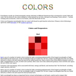 Colors and Color Healing