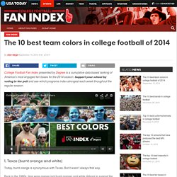 The 10 best team colors in college football of 2014