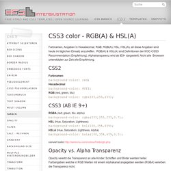 colors » CSS INTENSIVSTATION