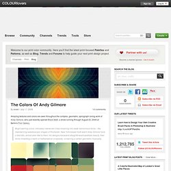 Print Blog / The Colors Of Andy Gilmore by COLOURlovers