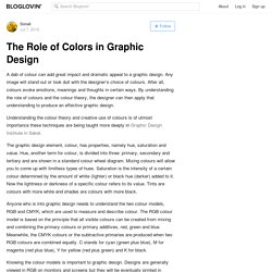 The Role of Colors in Graphic Design
