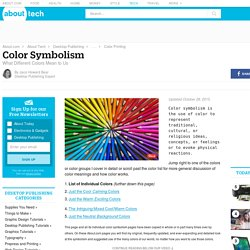 Color Meanings - Explore Palettes and Symbolism - Color Meaning and Colors That Go Together