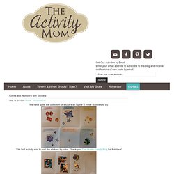 The Activity Mom: Colors and Numbers with Stickers