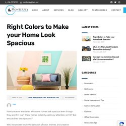 Right Colors to Make your Home Look Spacious