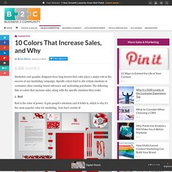 10 Colors That Increase Sales, and Why