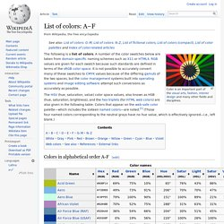 List of colors: A–F