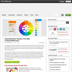 Color + Design Blog / ColorSchemer Studio 2 for Mac (+COLOURlovers) by COLOURlovers