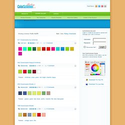 Gallery | Website-ready color schemes for ColorSchemer