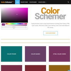 (app) ColorSchemer | Instant Color Schemes