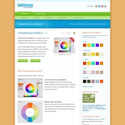 Instant website and print color schemes with ColorSchemer Studio
