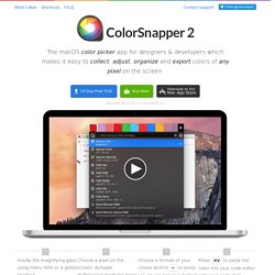 ColorSnapper — the missing color picker for Mac OS X