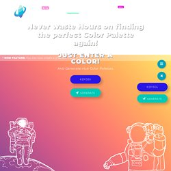 ColorSpace - Color Palettes Generator and Color Gradient Tool