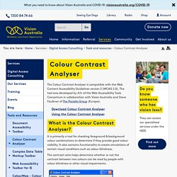 Colour Contrast Analyser 2-2 for Web Pages