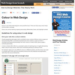 Using colour in web page design – basics of color theory for designing web pages